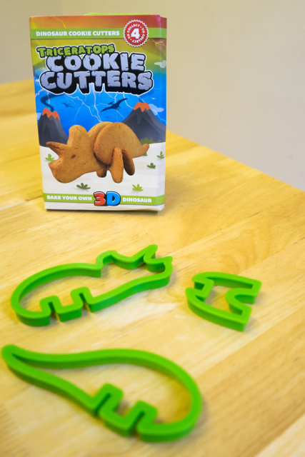 3-D Dinosaur Cutters - Kitchen Rules    Given to us to review