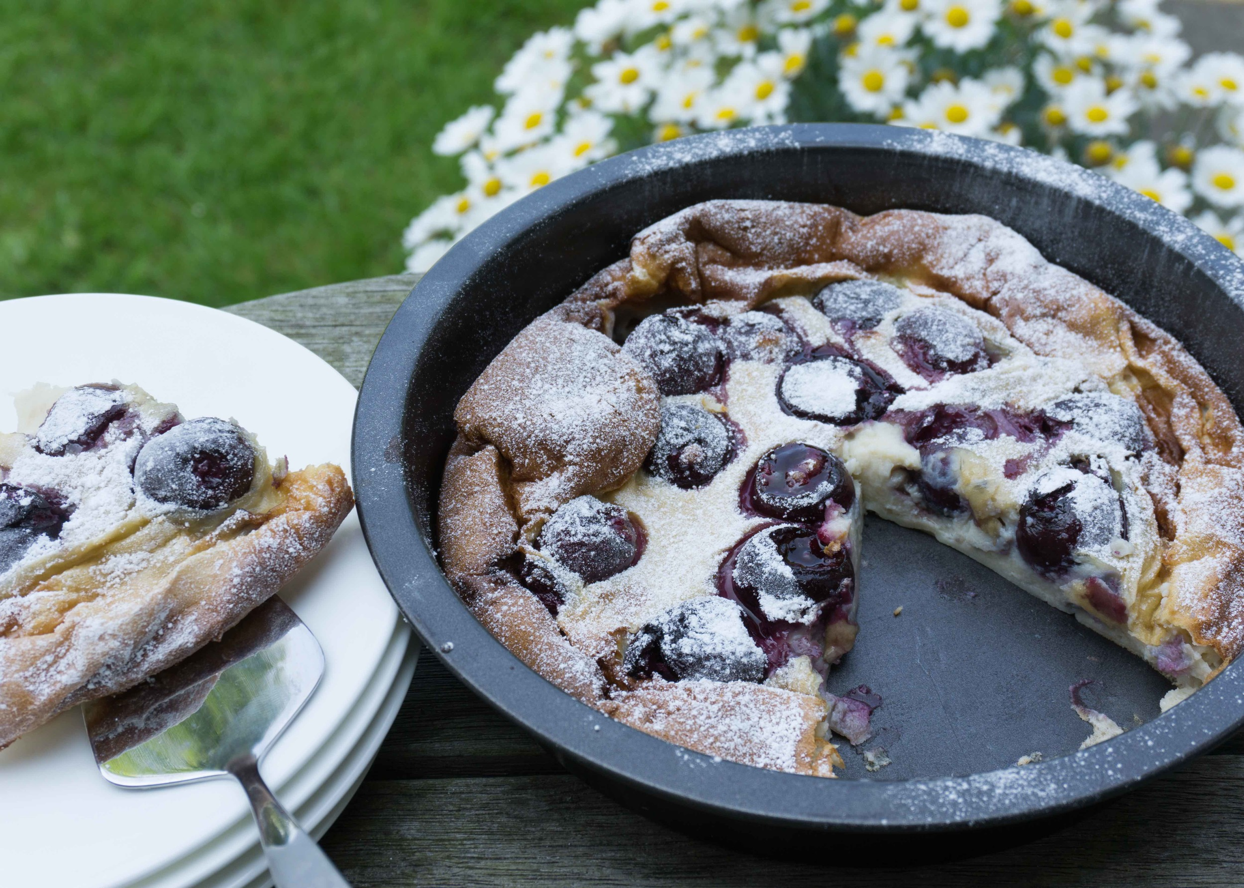 Easy Cherry Clafoutis - Tickle Fingers