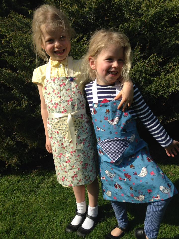 Reversible, made-to-measure aprons with button release neck strap and pocket with a big choice of great fabrics - Bonny Bows    I bought for my two and love!