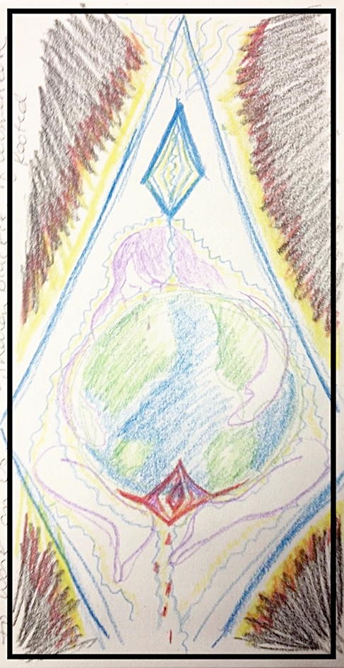I receive vivid imagery and profound clear messages in meditation, like this one of Mother Gaia weeping. Sacred images help guide, inspire, anchor, and provide insight from our past and future selves.