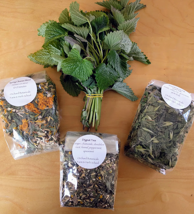 #3: Find your food —and medicine! Last weekend my sister Clare (below) and I took an amazing class on blending medicinal teas for the spring season with    Becca Farr at Orchard Botanicals.    I'm in love!