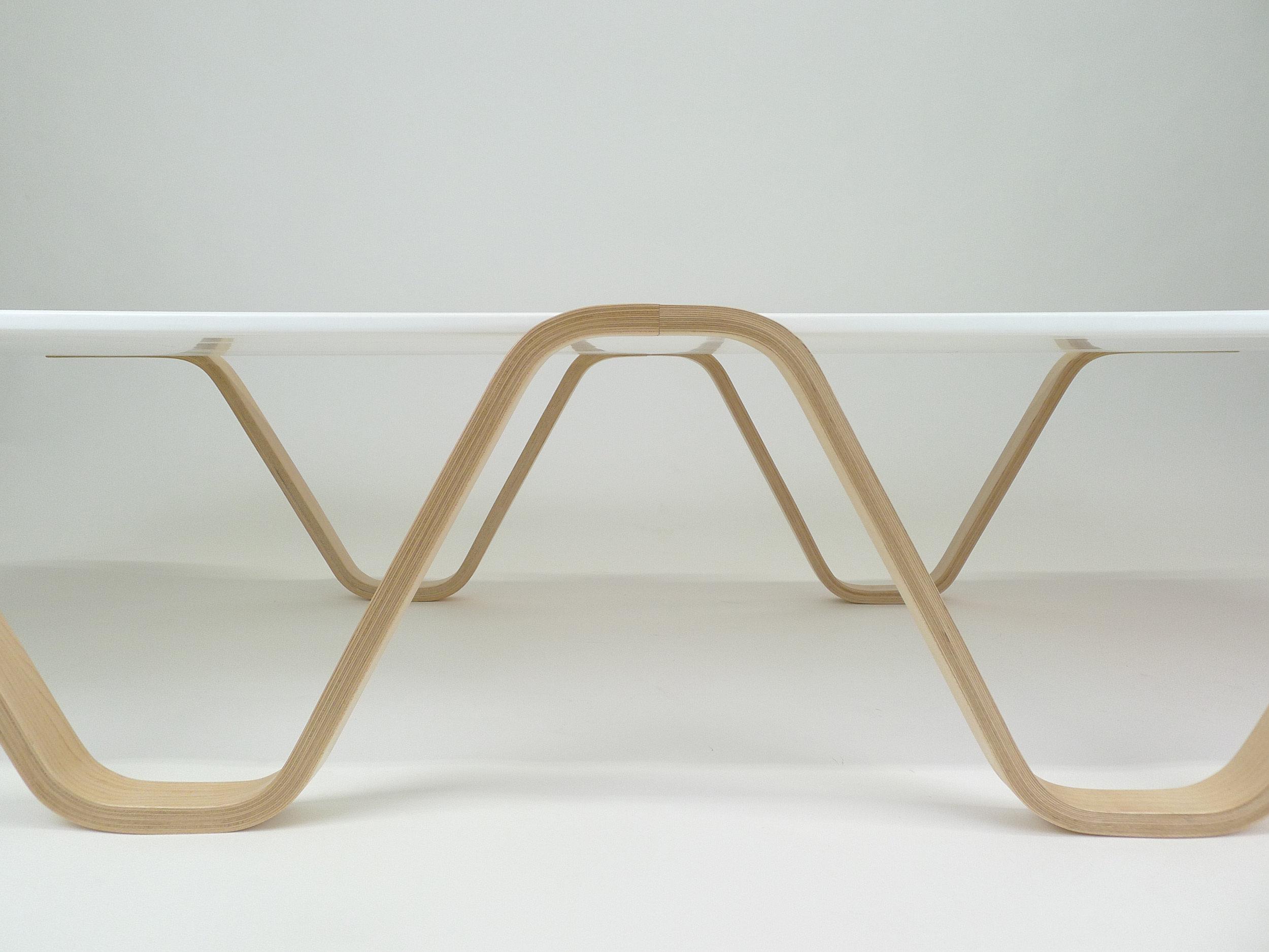 Bent lamination coffee table: No 1