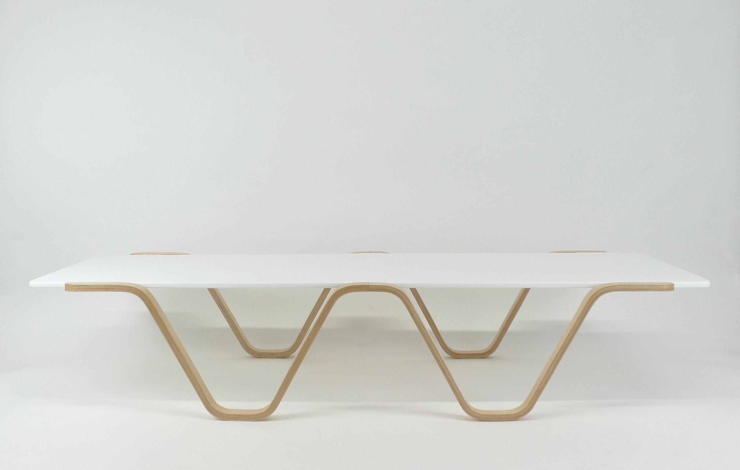 Bent lamination coffee table: No. 1