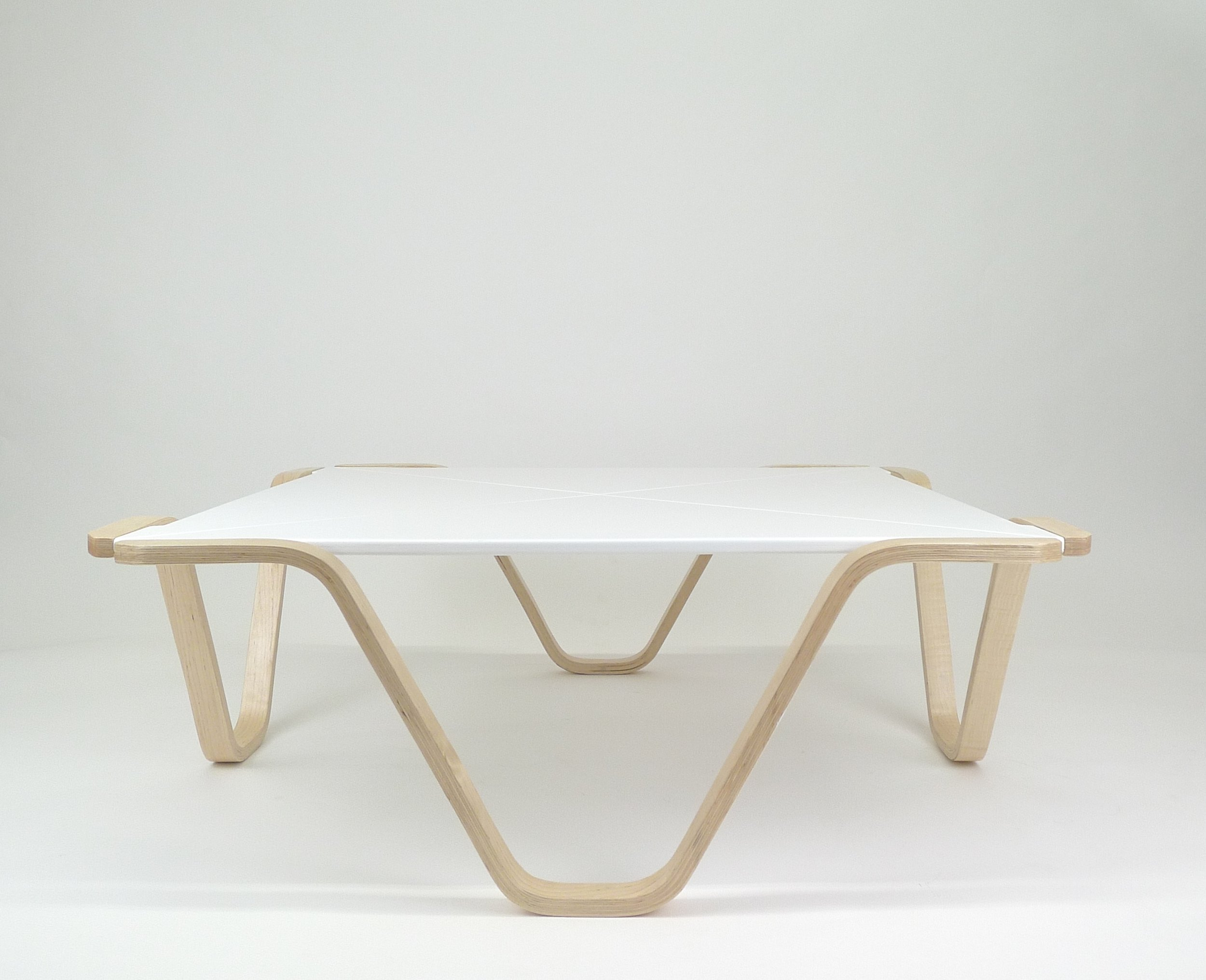 Bent lamination coffee table: no.2