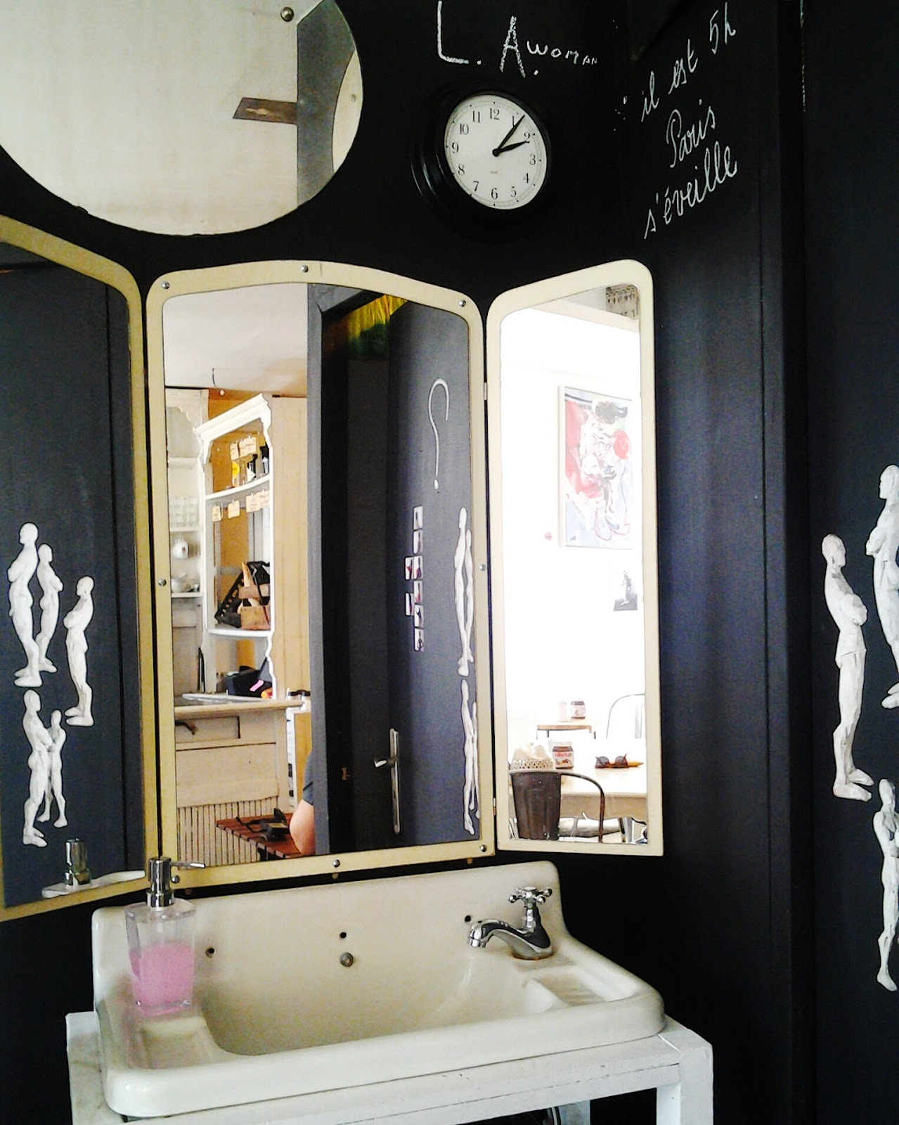 The unexpected space - lavatory right in the main room - love concept.