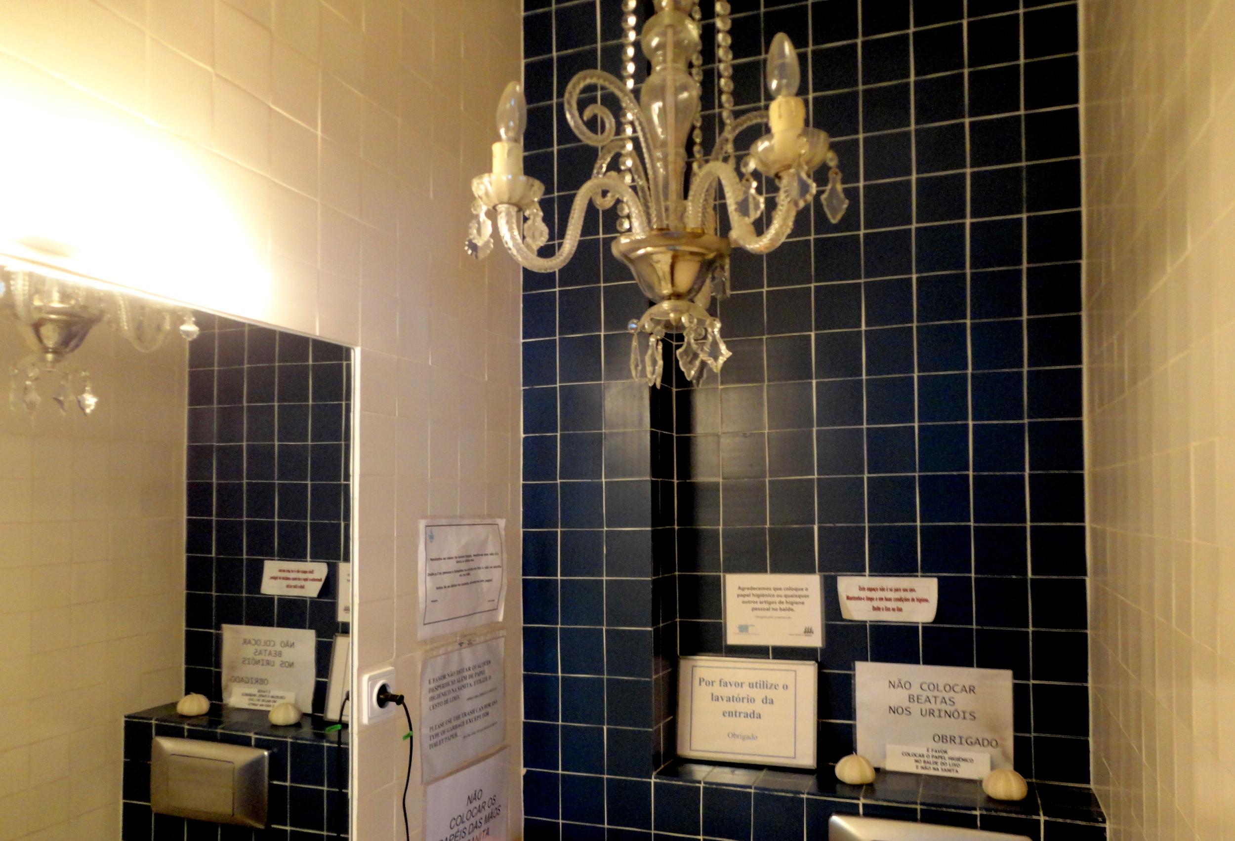 powder room para as visitas (mas sem proibições).