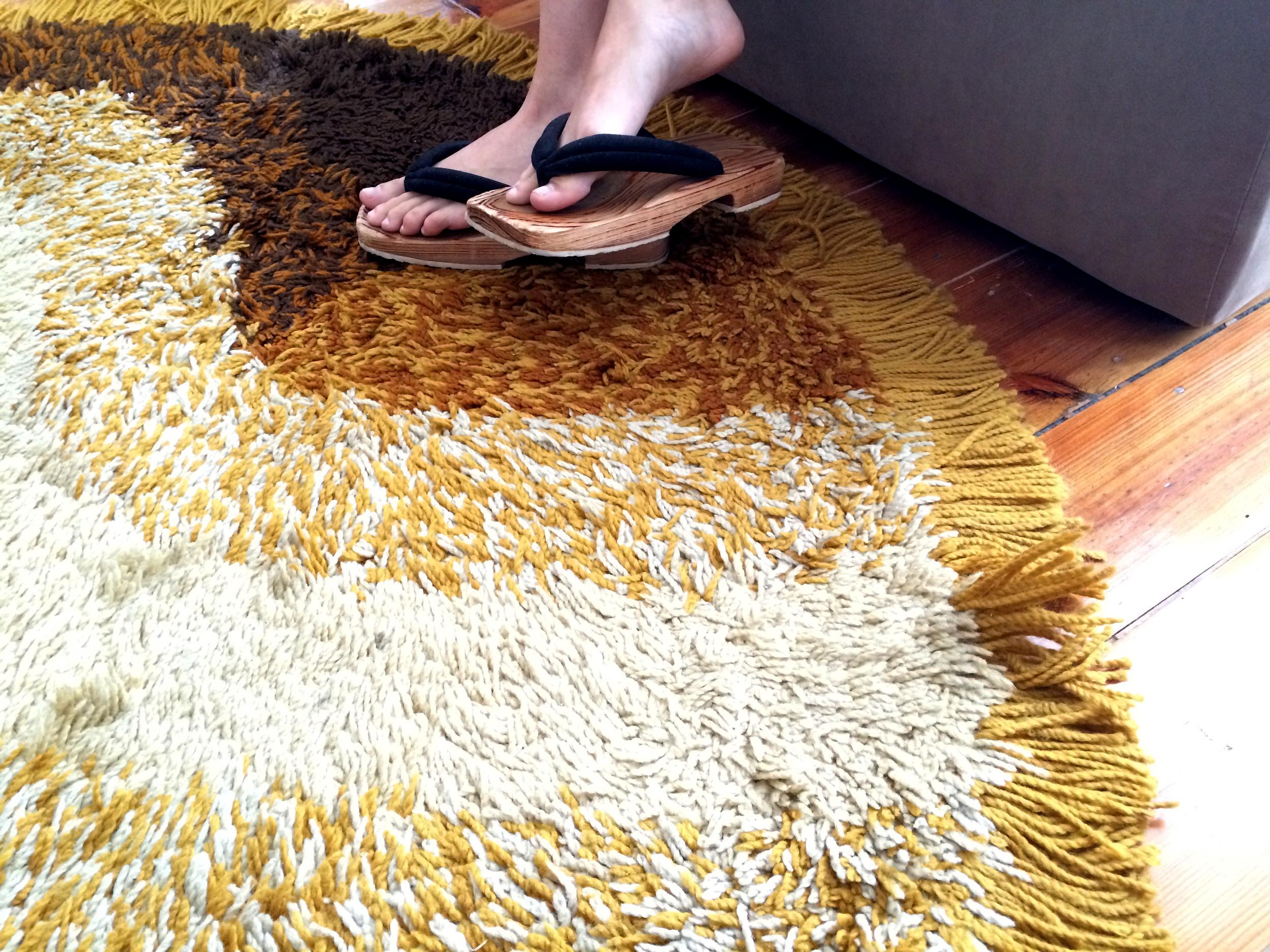o tapete dos anos '60 herdado dos pais.