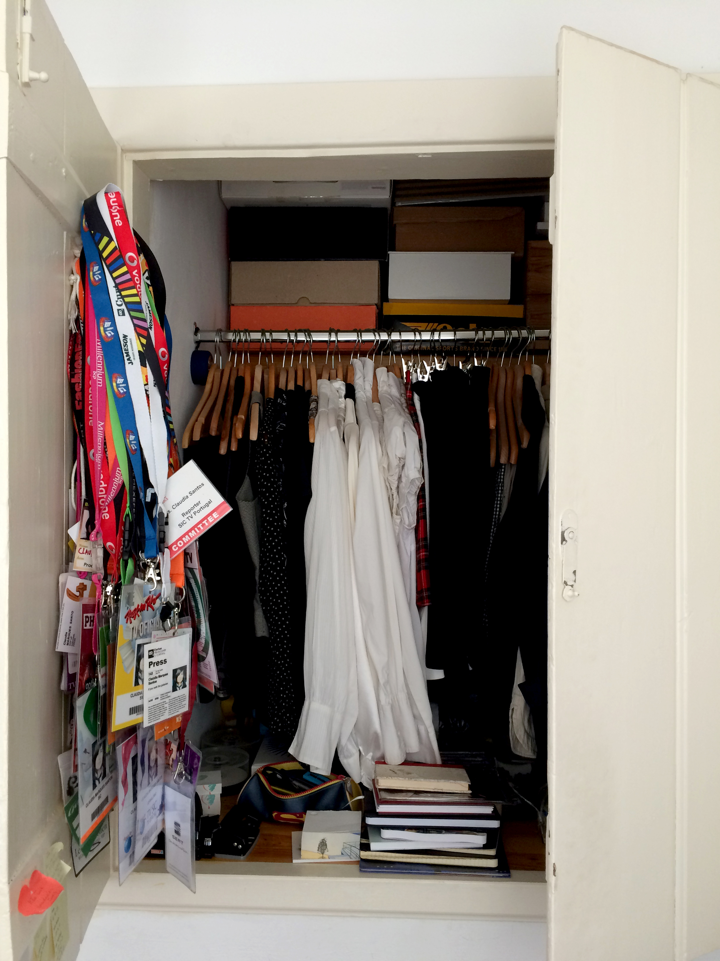 o closet inesperado.