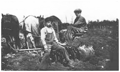 Hyman and Ben Pittelman on their family farm in Arpin, Wisconsin (1909). Courtesy of  American Jewish Historical Quarterly , September 1964.