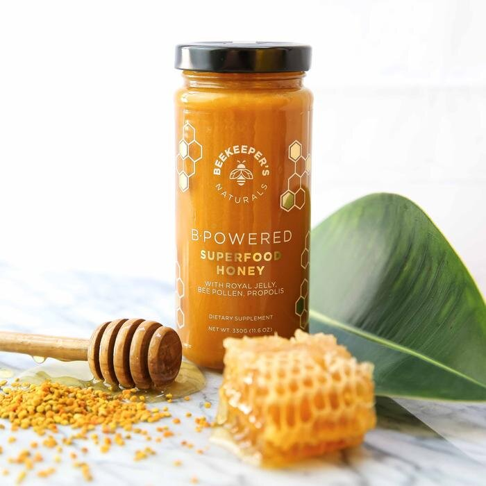 - The product I use is called B. Powered Superfood Honey from Beekeeper's Naturals. It's basically an energy and brain booster.
