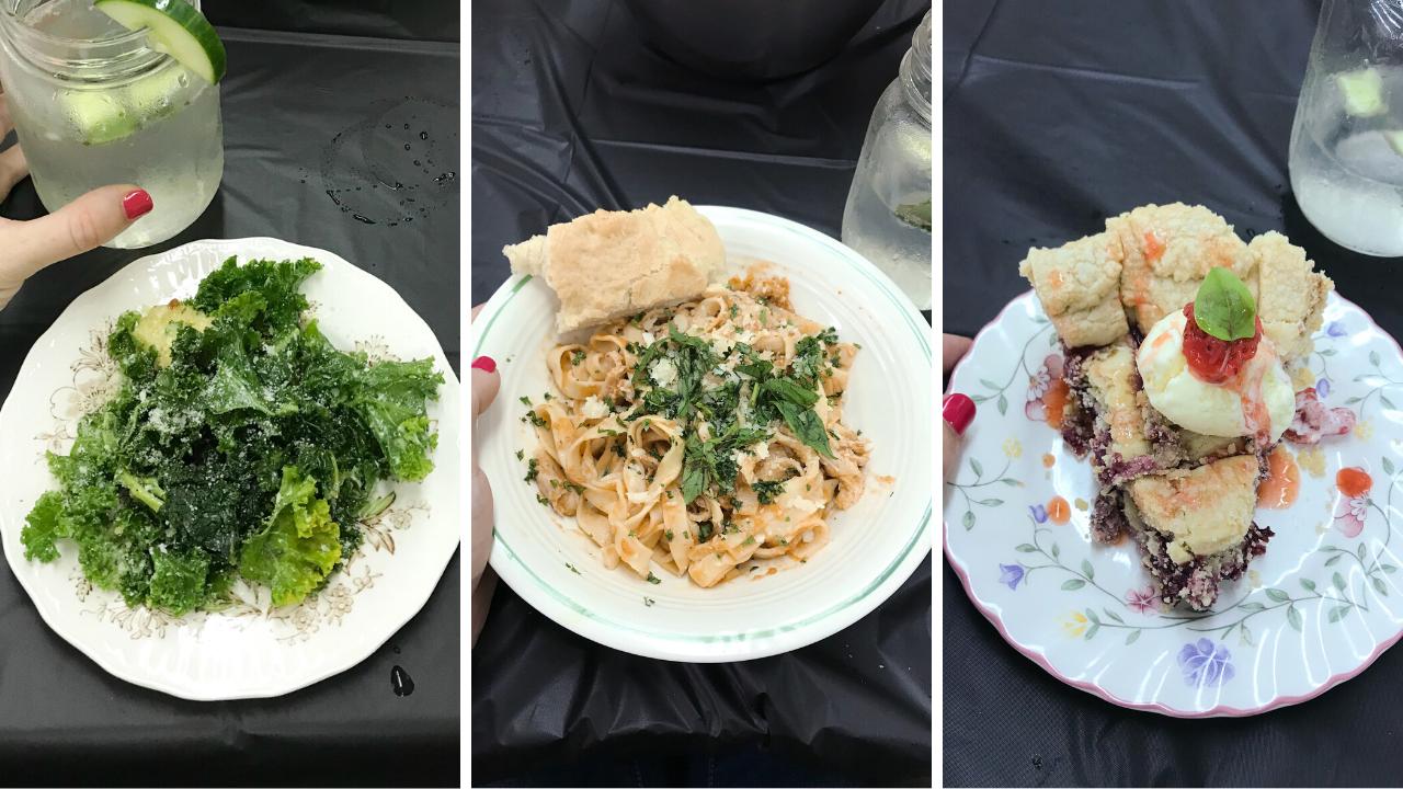 美味的三道菜,由Rooks在每周小厨师弹出式餐厅为家长准备、烹饪和提供,例如2018年8月