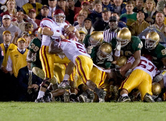 Grass Debate Continues: USC vs. Notre Dame 2005 (Photo by Icon Sports Media)