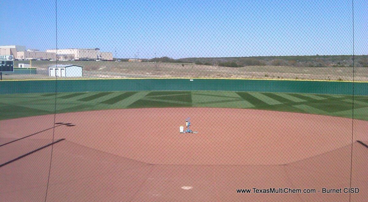 Burnet Baseball Field Mowing Pattern 3 | Texas Multi-Chem Sports Field Construction, Renovation, Maintenance - Great Sports Turf Starts Here