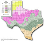TempERATURE Zones in Texas