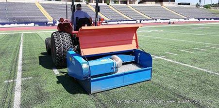 artificial turf deep clean | football field synthetic turf maintenance