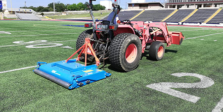 synthetic turf decompaction / aeration | football field artificial turf maintenance