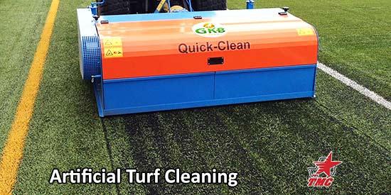 TMC Sports Turf | artificial turf deep clean | football field maintenance