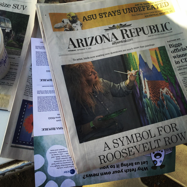 Cover story on The Arizona Republic