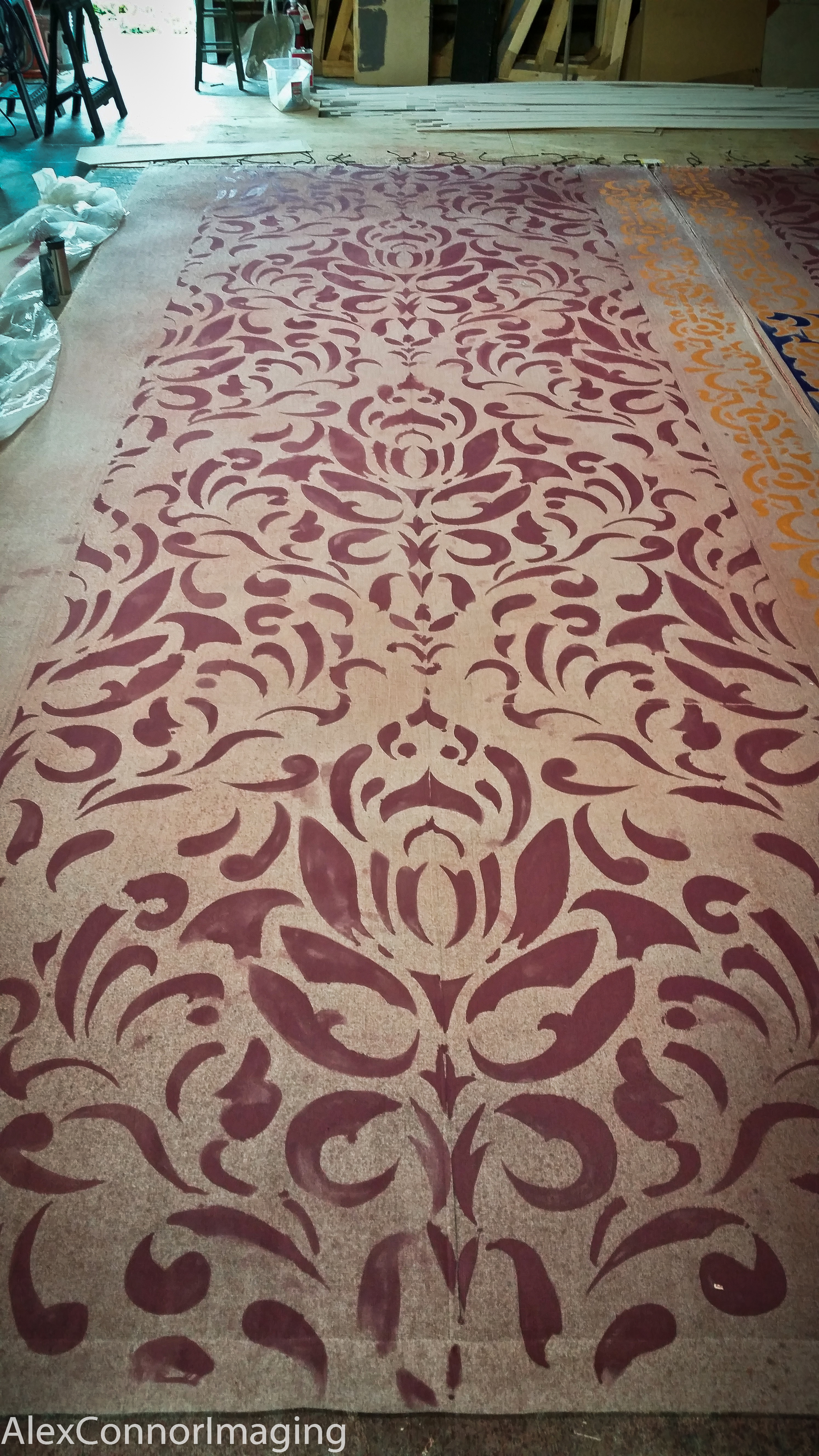 Completed Drape from Stencils