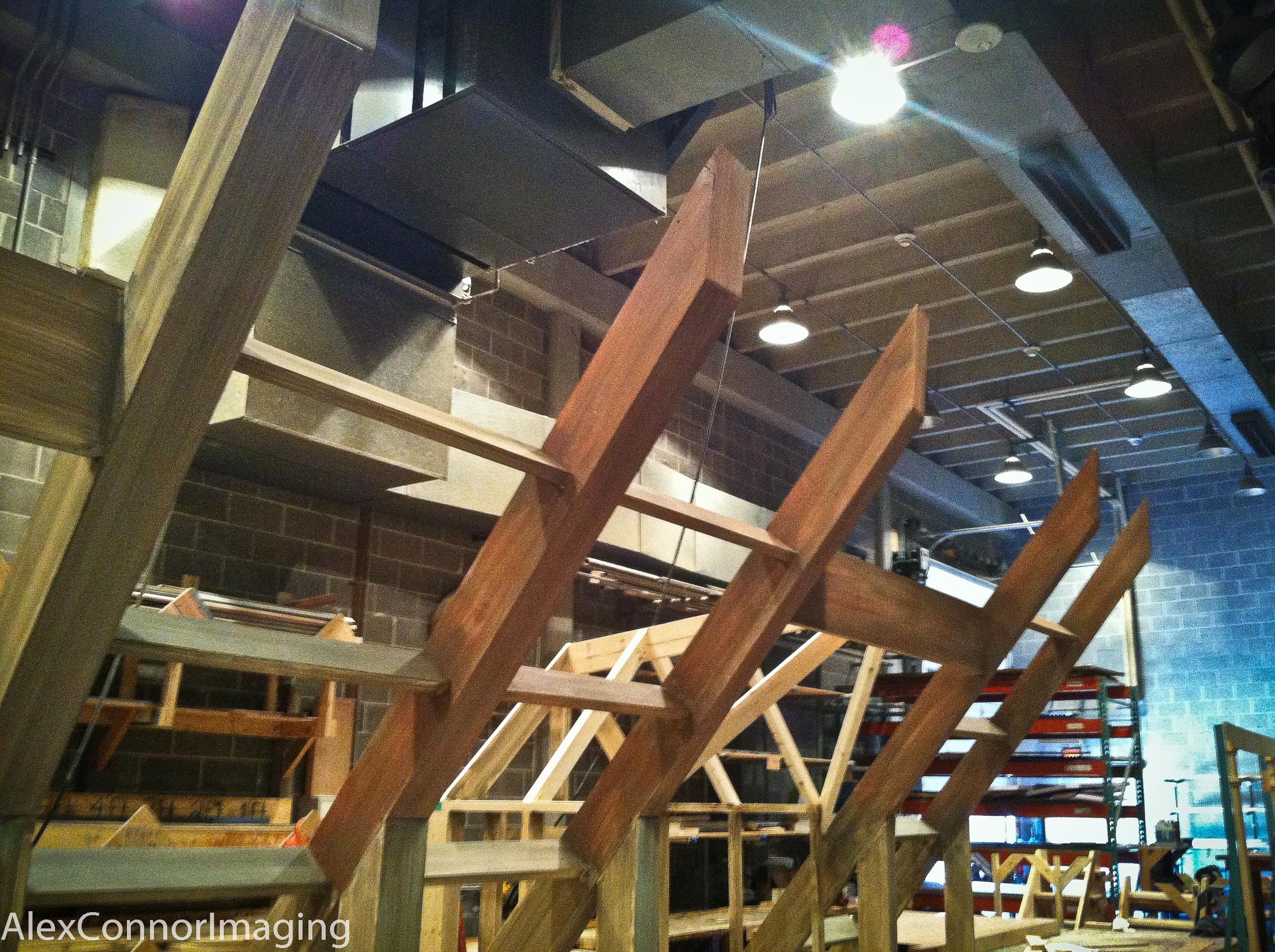 Second step wood grain