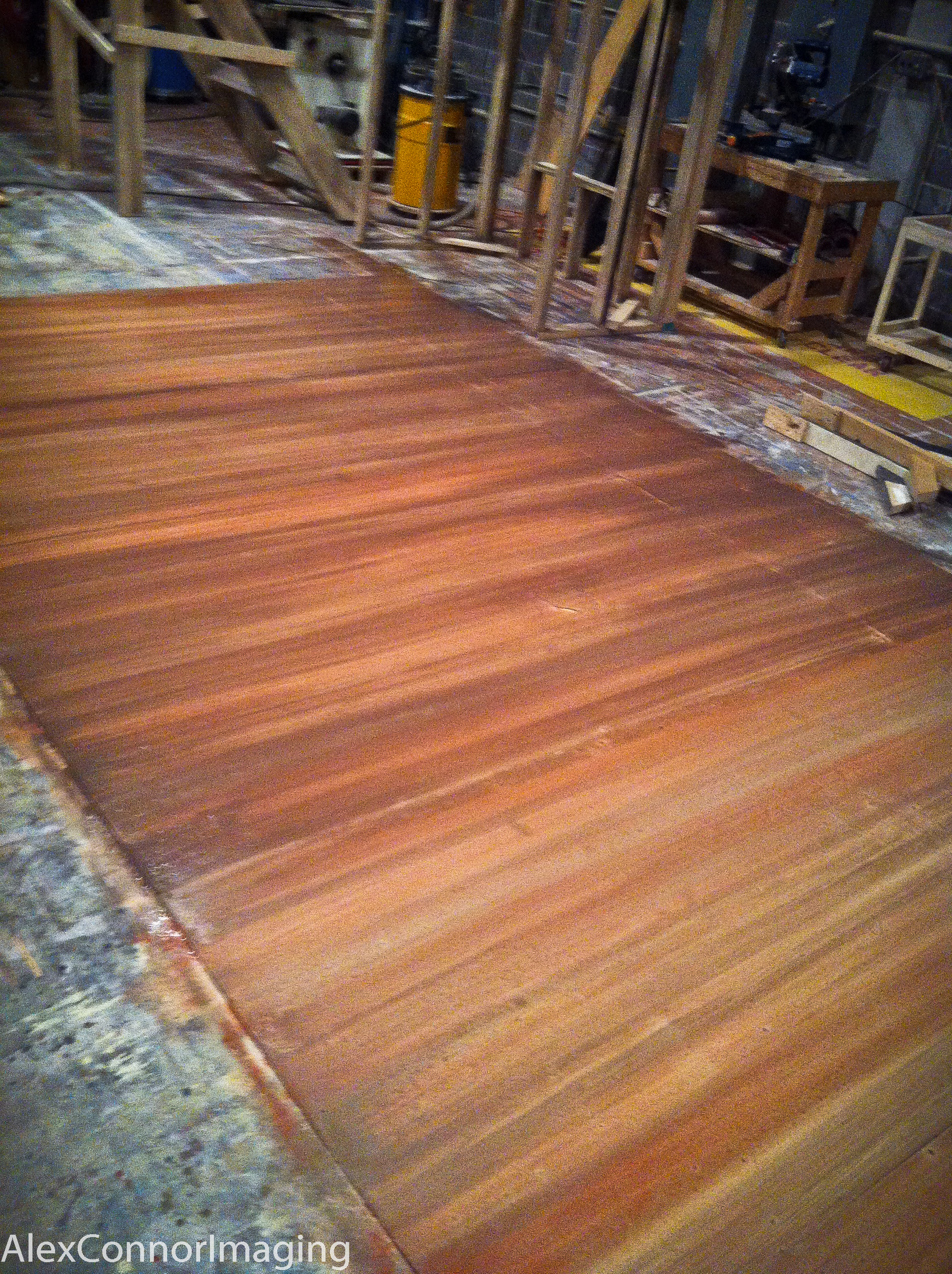 In progress several step wood grain