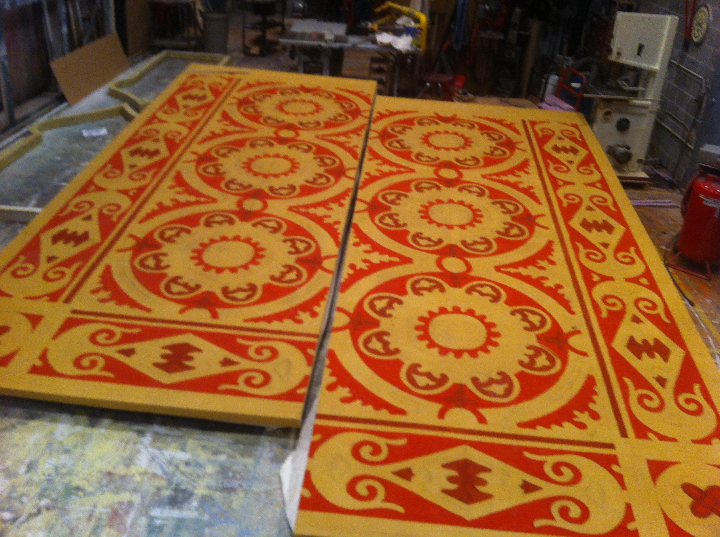 In Process Persian Rug