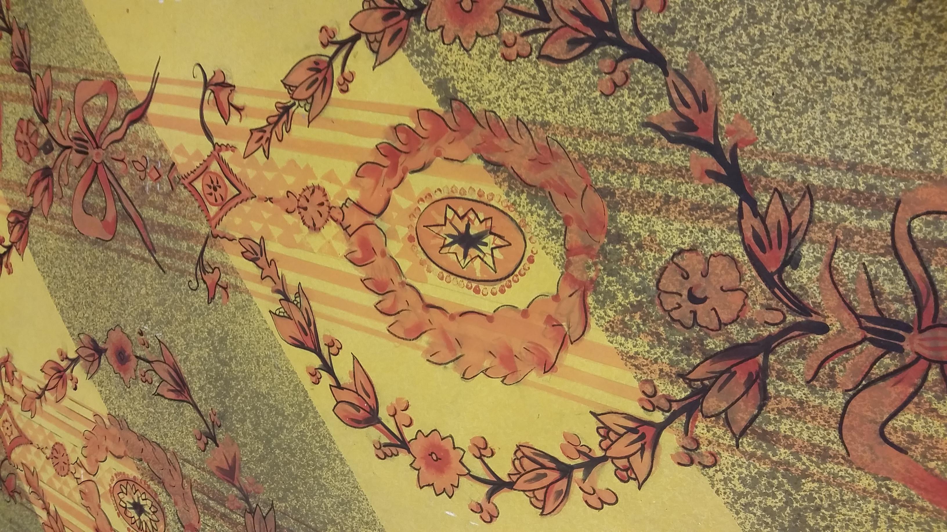 In Process Damask Wallpaper Detail
