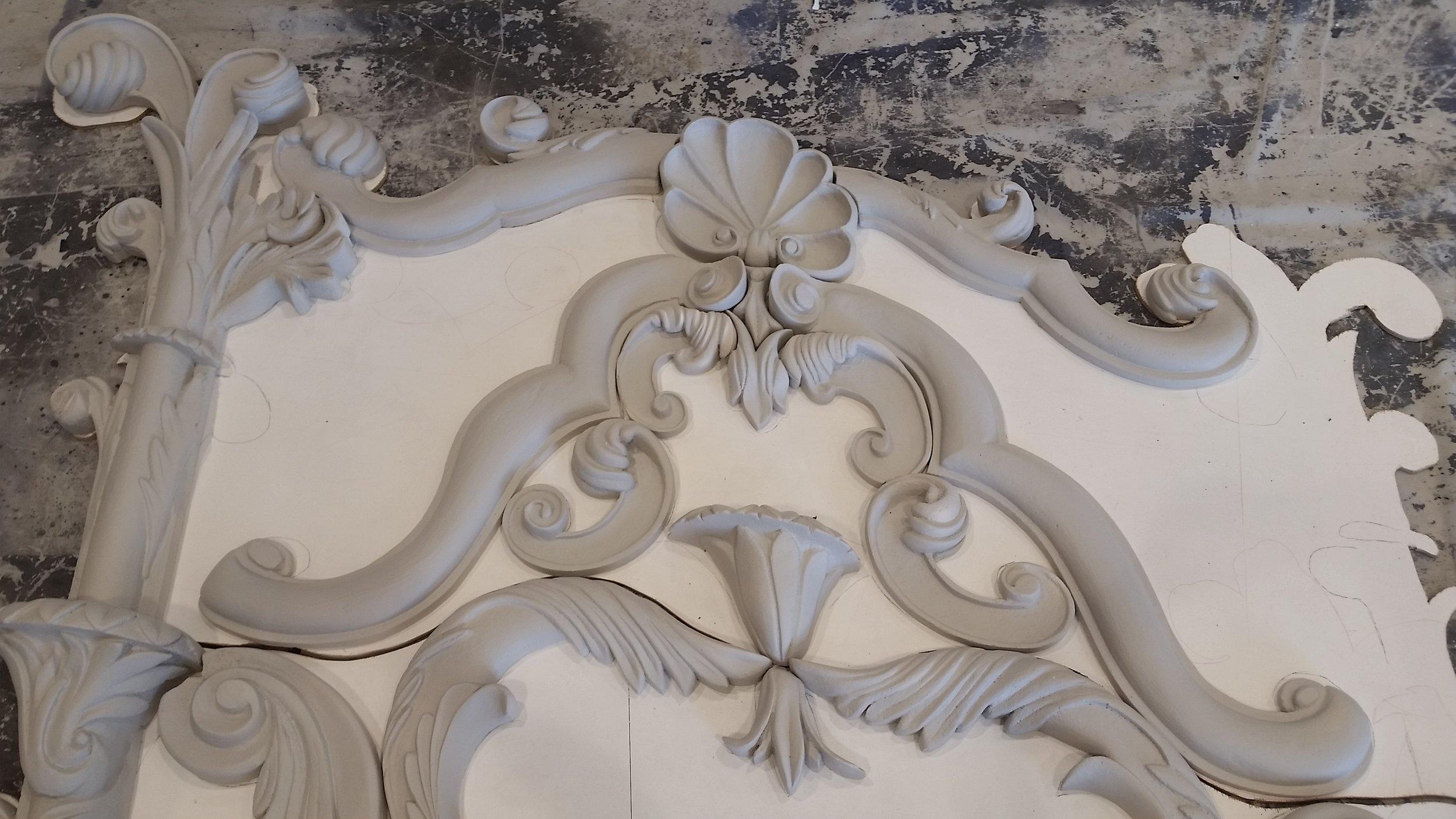 Fireplace Detail In Progress