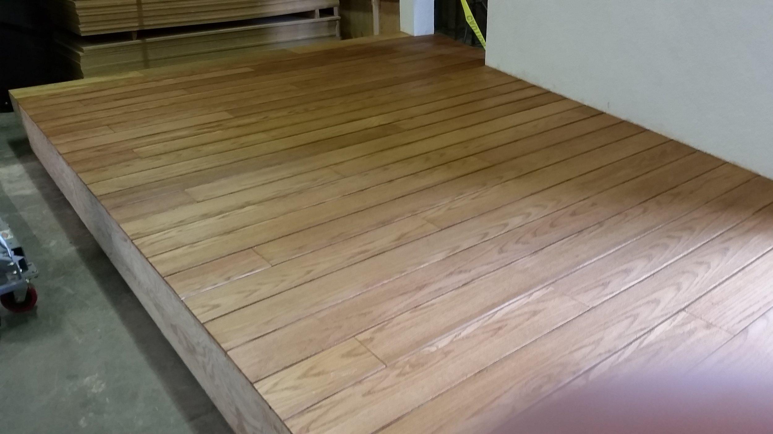 Golden Oak Stained Flooring