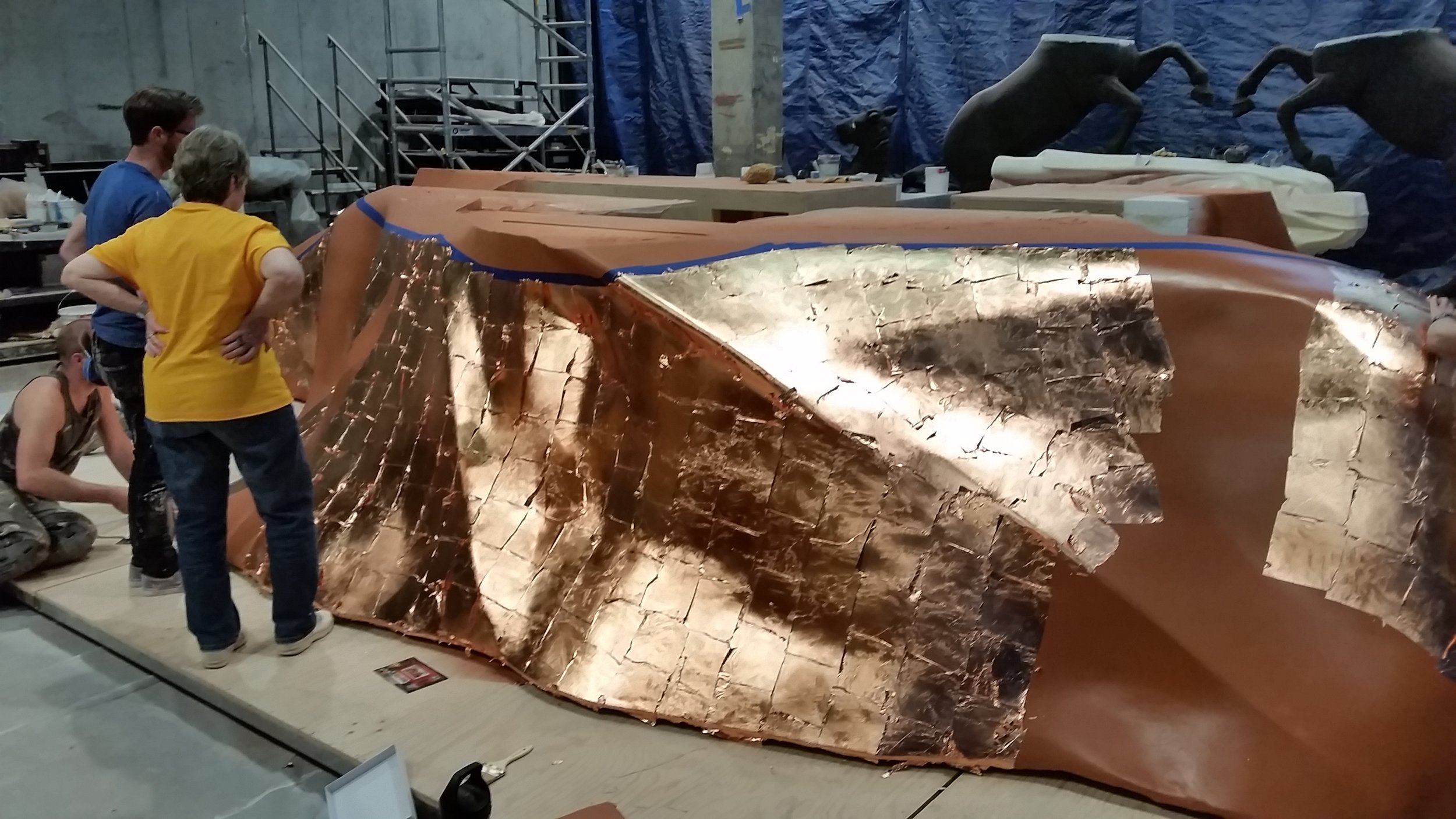 1st Coat Copper Leaf In Progress