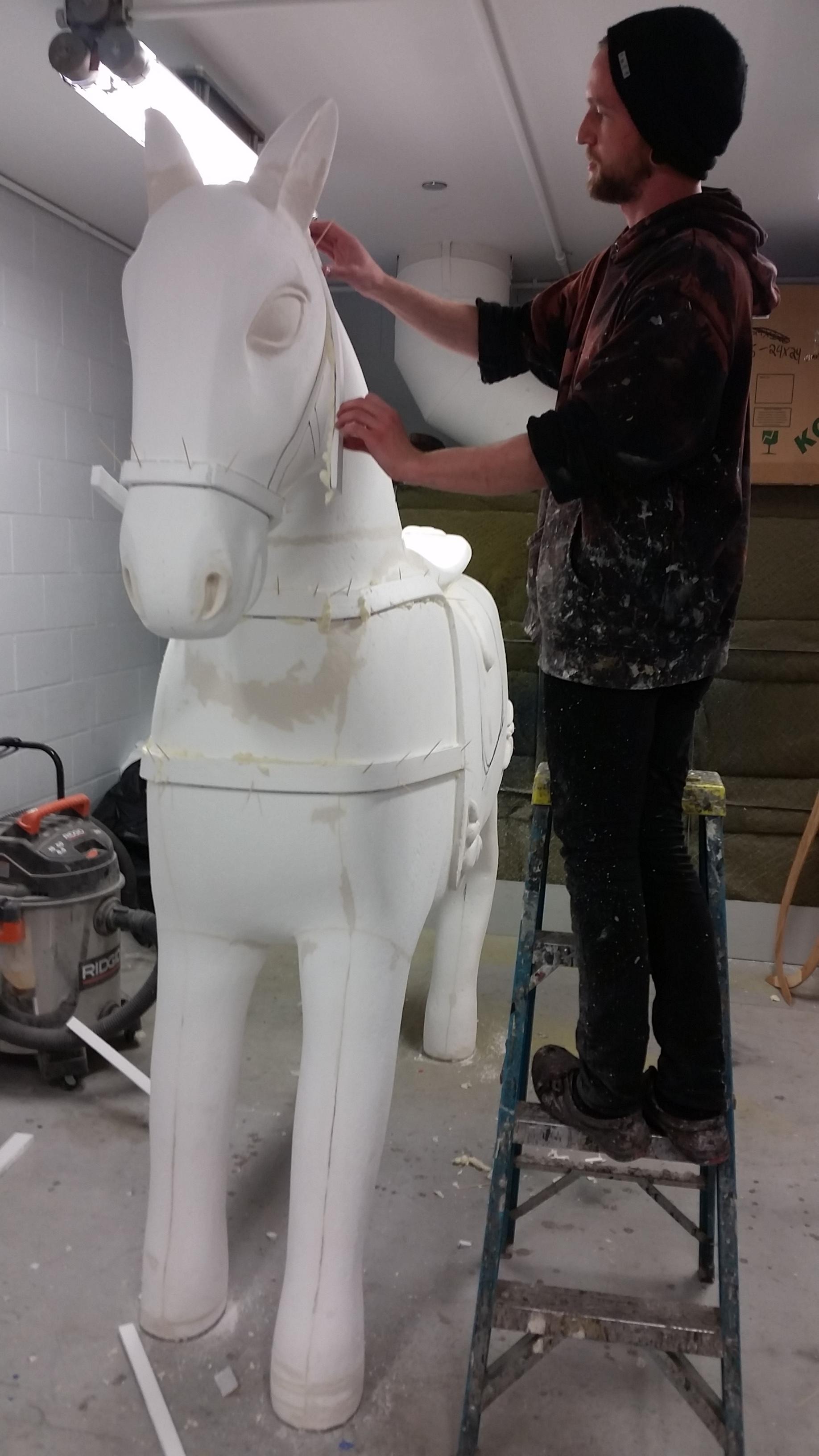 In Progress War Hobby Horse