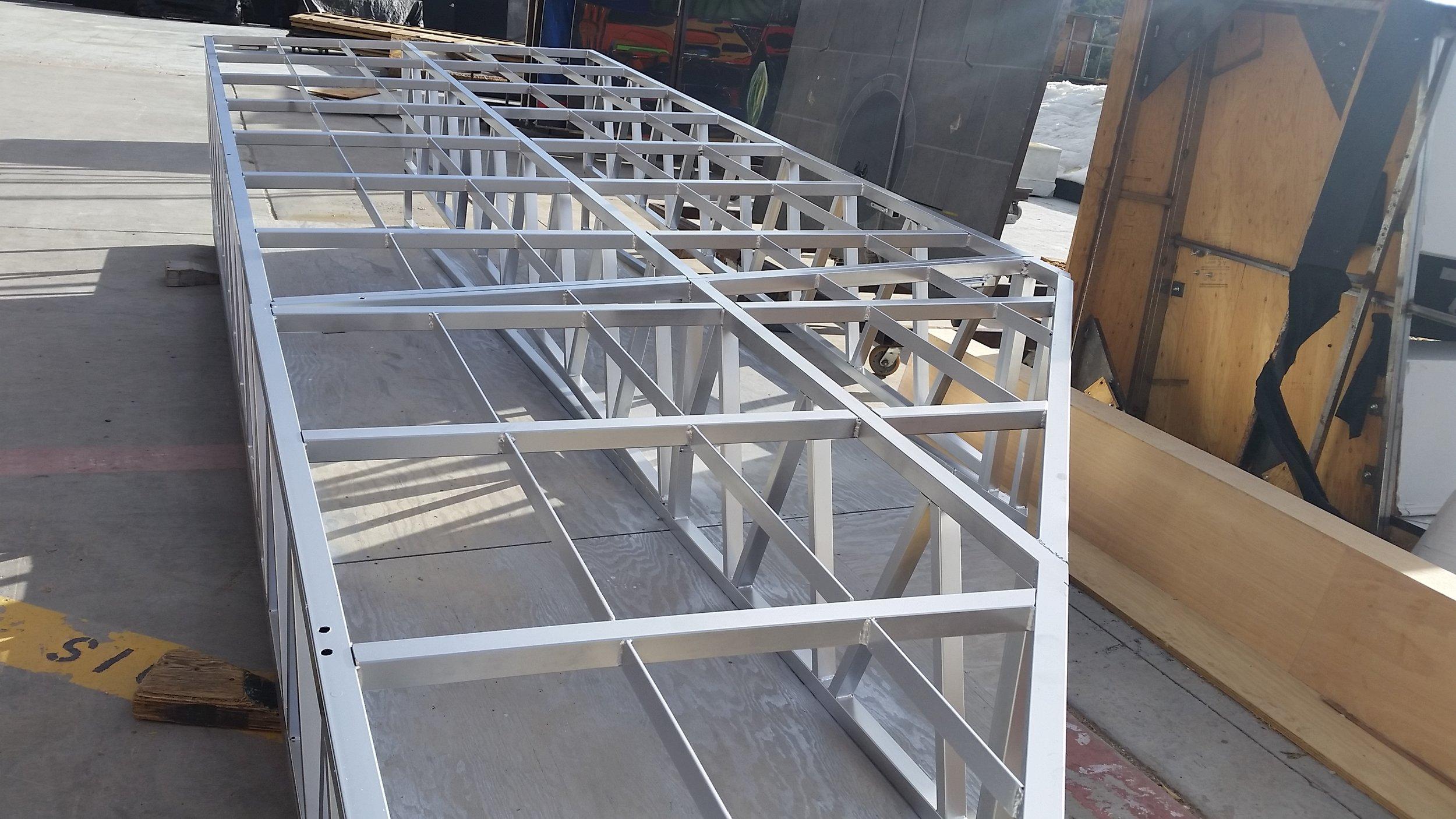 In Progress Steel Coating