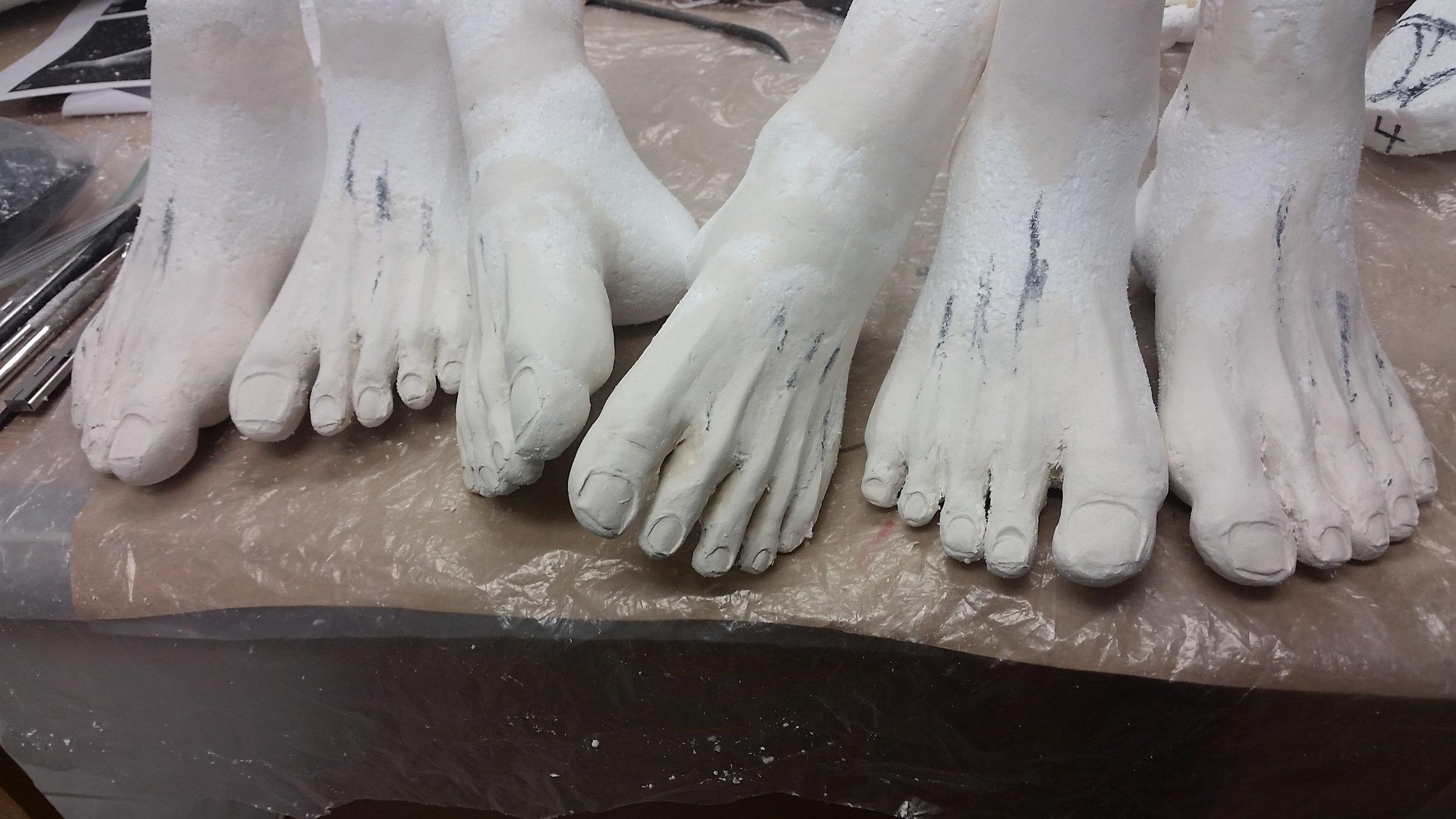 In Progress Feet Sculpt