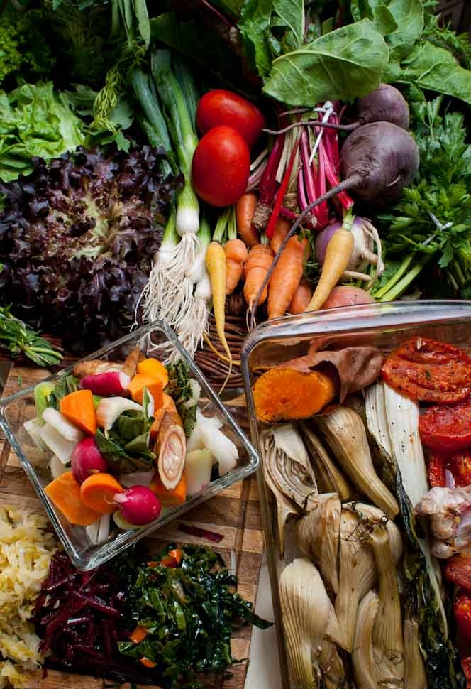 Cornucopia of good real food packed with nutrients to help a body heal and thrive