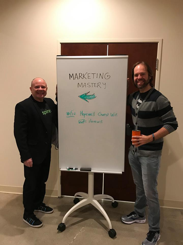who thinks they are in charge? well myself and biz partner Jeep pontius create the outline of the event but we create the morning with you!