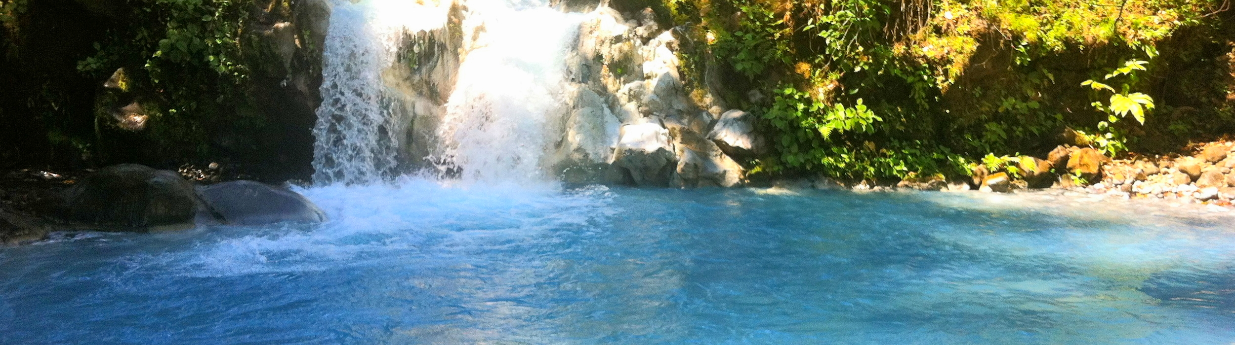 Natural Blue Volcanic Waters