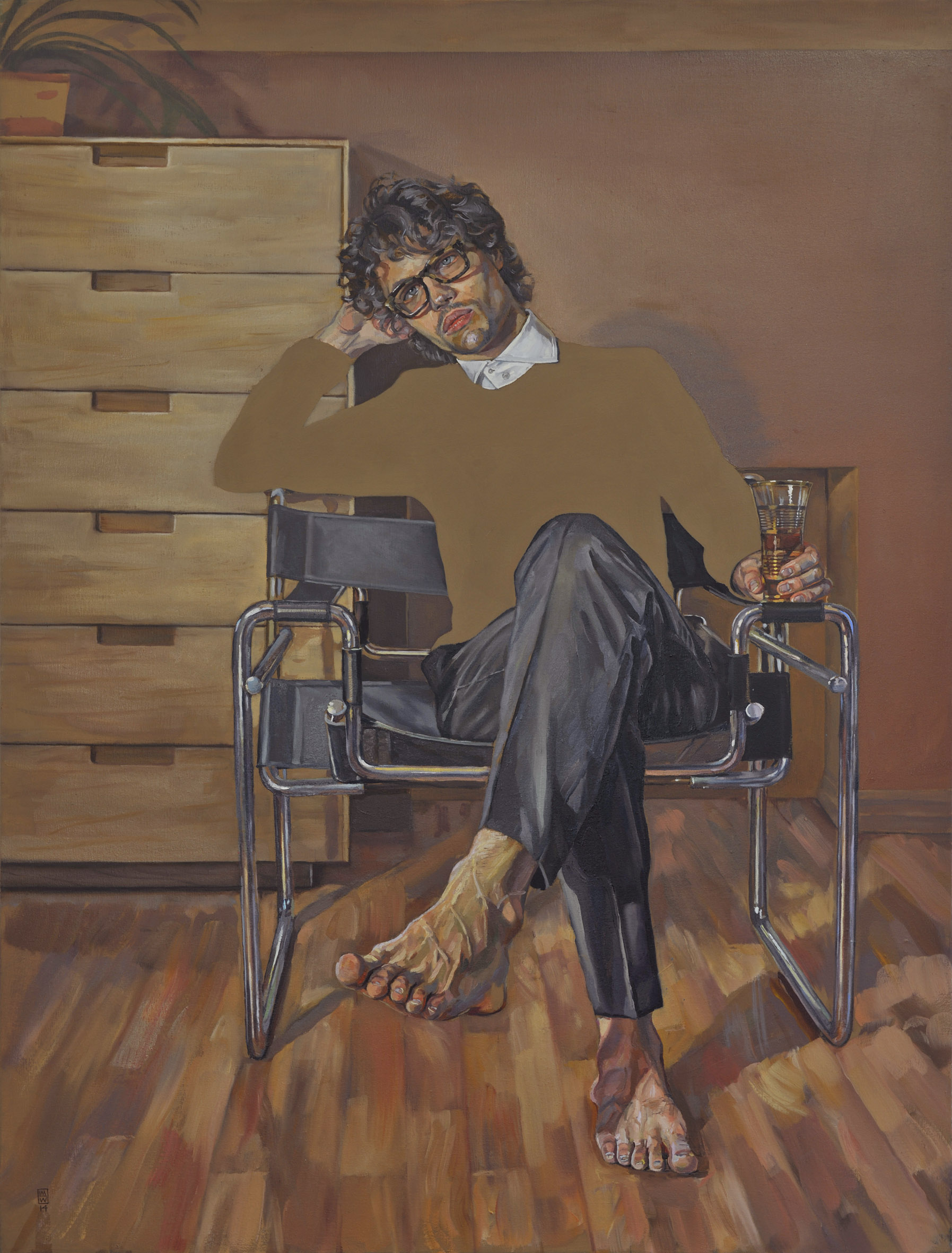 Joachim Gram  . Oil on canvas. 4 x 3 foot.  below:   De Laszlo as DL  . Oil on linen. 125.5 x 121.5 cm.