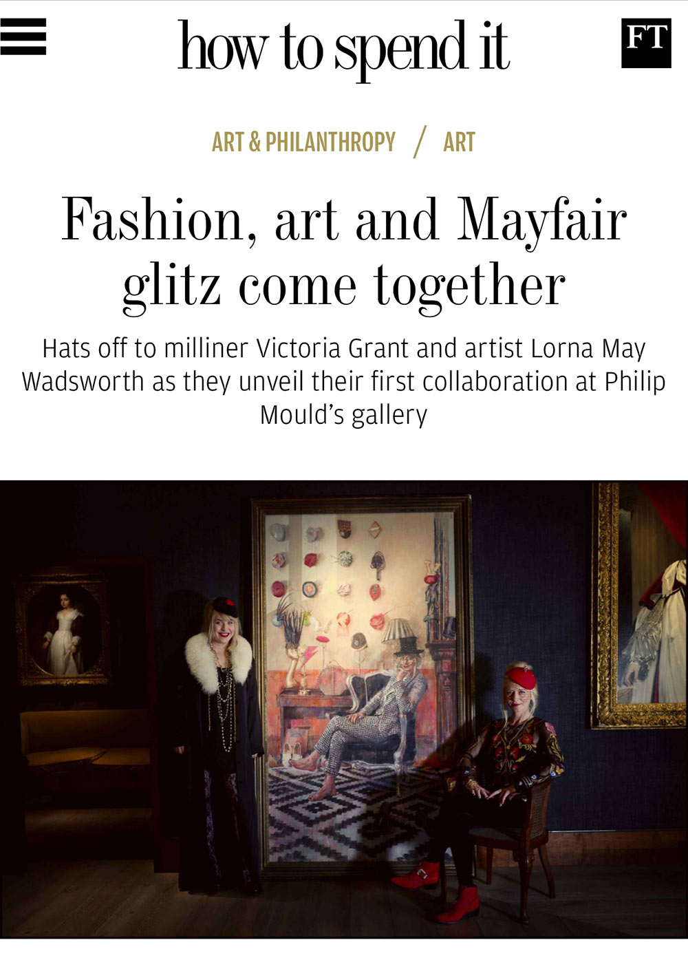 - Read about the exhibition in the Financial Times' How To Spend It