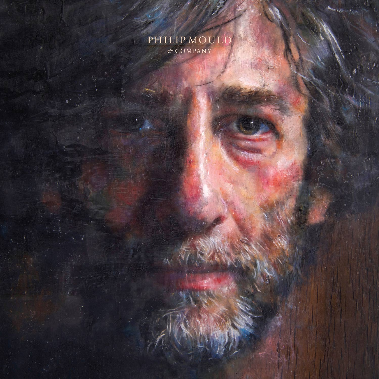 The Book of Neil Gaiman (The Bog Oak Portrait). Oil and beeswax on prehistoric bog oak sculpted by artist Adrian Swinstead. Circa 37 x 30 x 10 cm. 2017