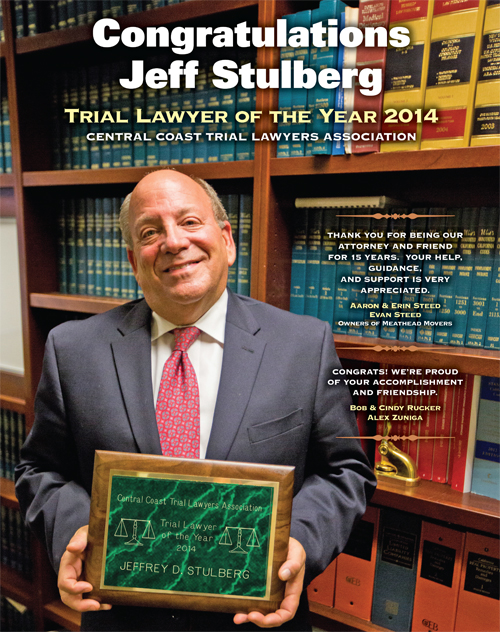 Trial Lawyer of the Year 2014  Central Coast Trial Lawyer Association