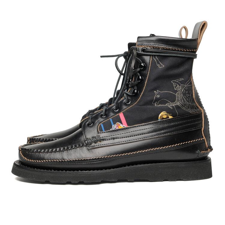 Maine Guide Pawnee DB Boots - G Black x Wall Paint Silk