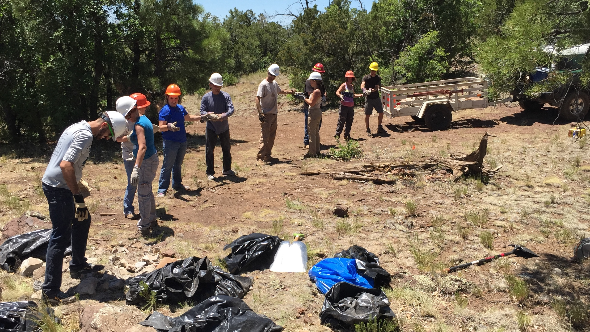 07/16/16 - Trash Cleanup Project with volunteers along the Arizona Trail in the Coconino National Forest outside Flagstaff, near Walnut Canyon.Click HERE to view the entire restoration.