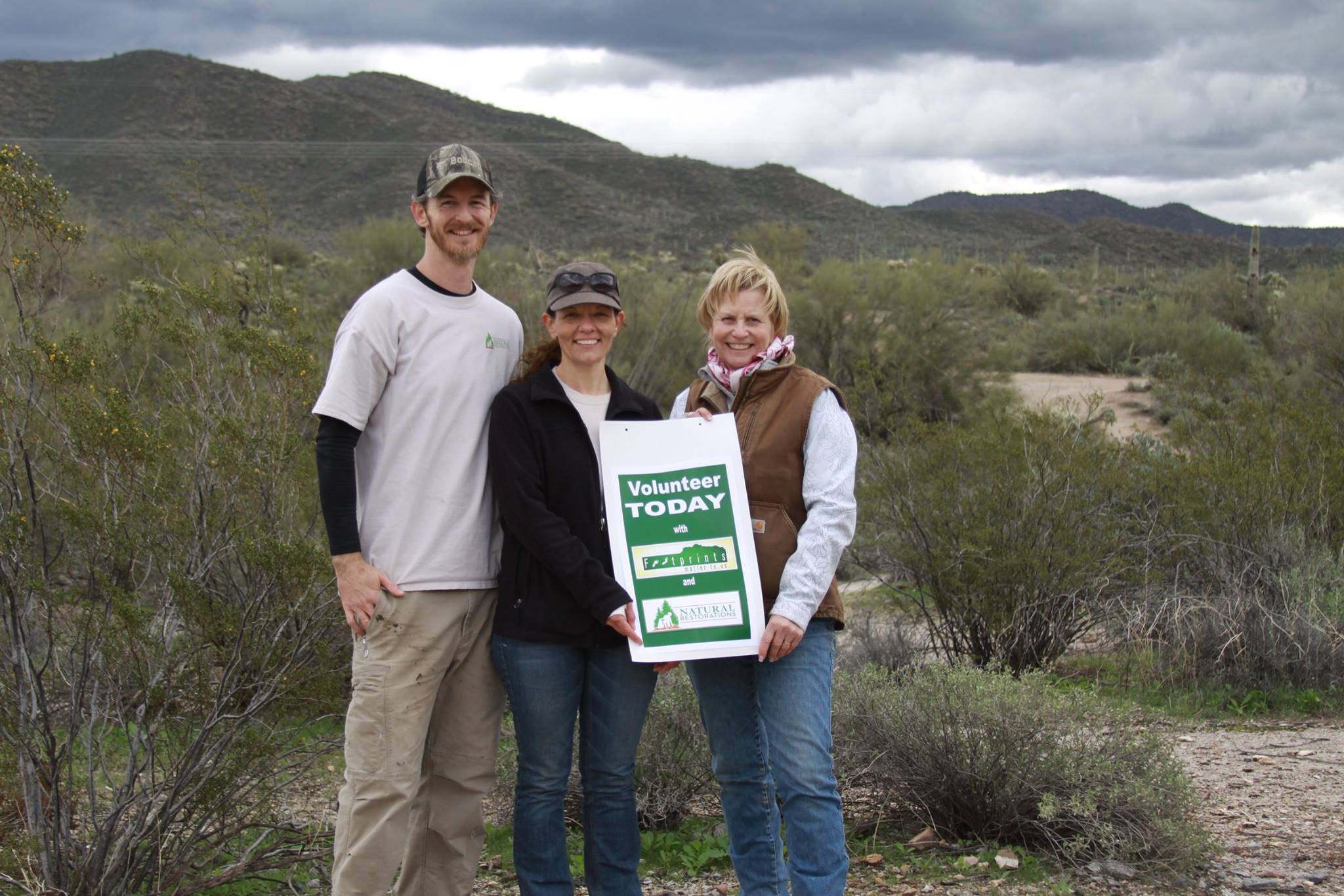 Justin & Nicole Corey from Natural Restorations and Sue Schaffer from Footprints Matter to Us