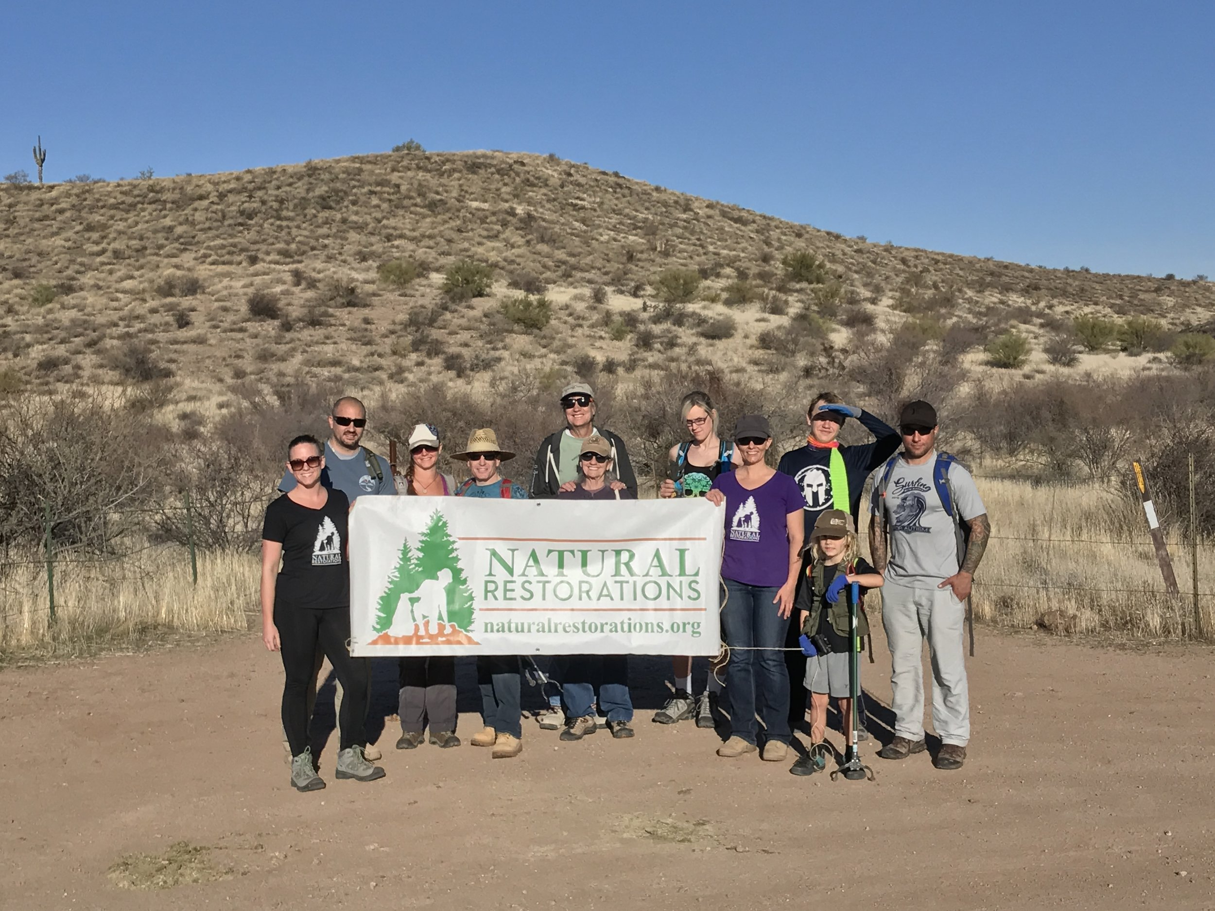 02/10/18 - Trail Cleanup on Tonto National Forest land off Bush Highway between Butcher Jones Recreation Area and the Bee-Line.Click HERE to view the entire restoration.