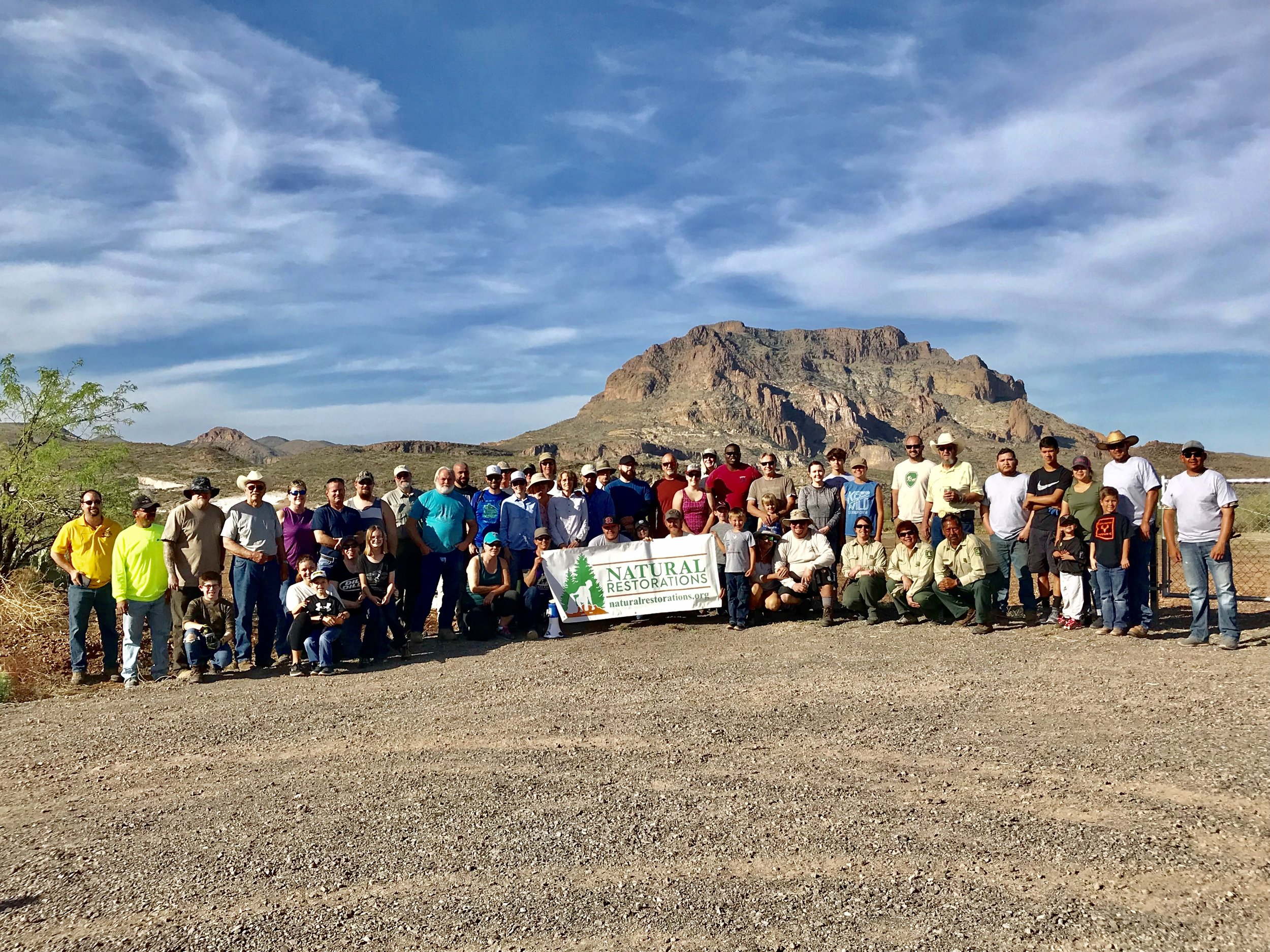 04/07/18 - Desert Cleanup between Superior and Picketpost Mountain on the Tonto National Forest.Click HERE to view the entire restoration.