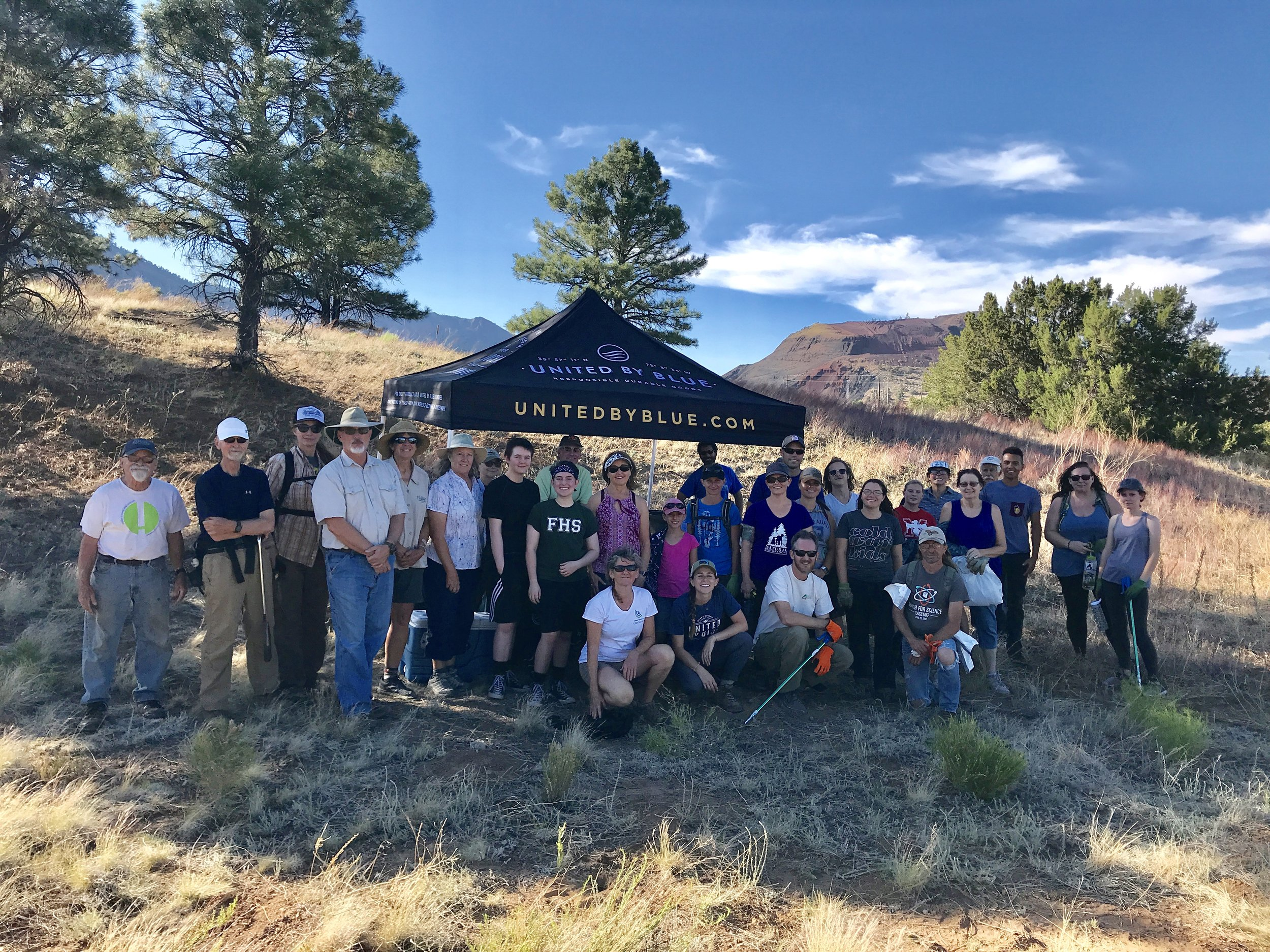 06/29/18 - Cleanup along the Rio de Flag in Flagstaff with United By Blue, Peace Surplus, City of Flagstaff, and Friends of Rio de Flag.Click HERE to view the project.