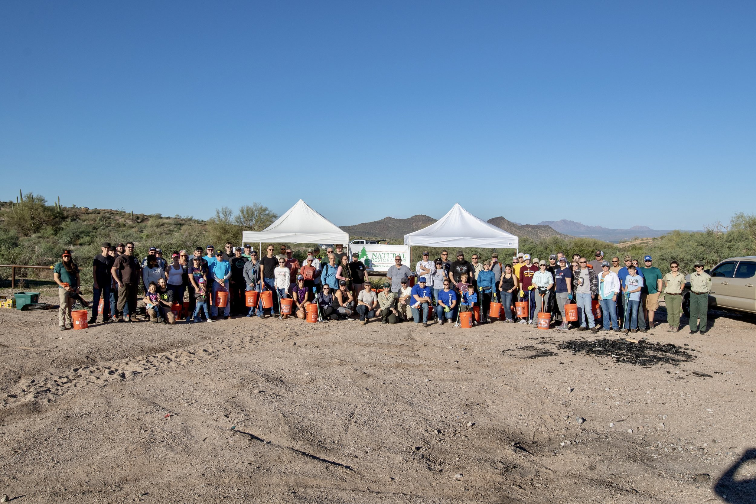 10/20/18 - 2nd Annual Lower Sycamore Fall Cleanup on the Tonto National Forest.Click HERE to view the project.