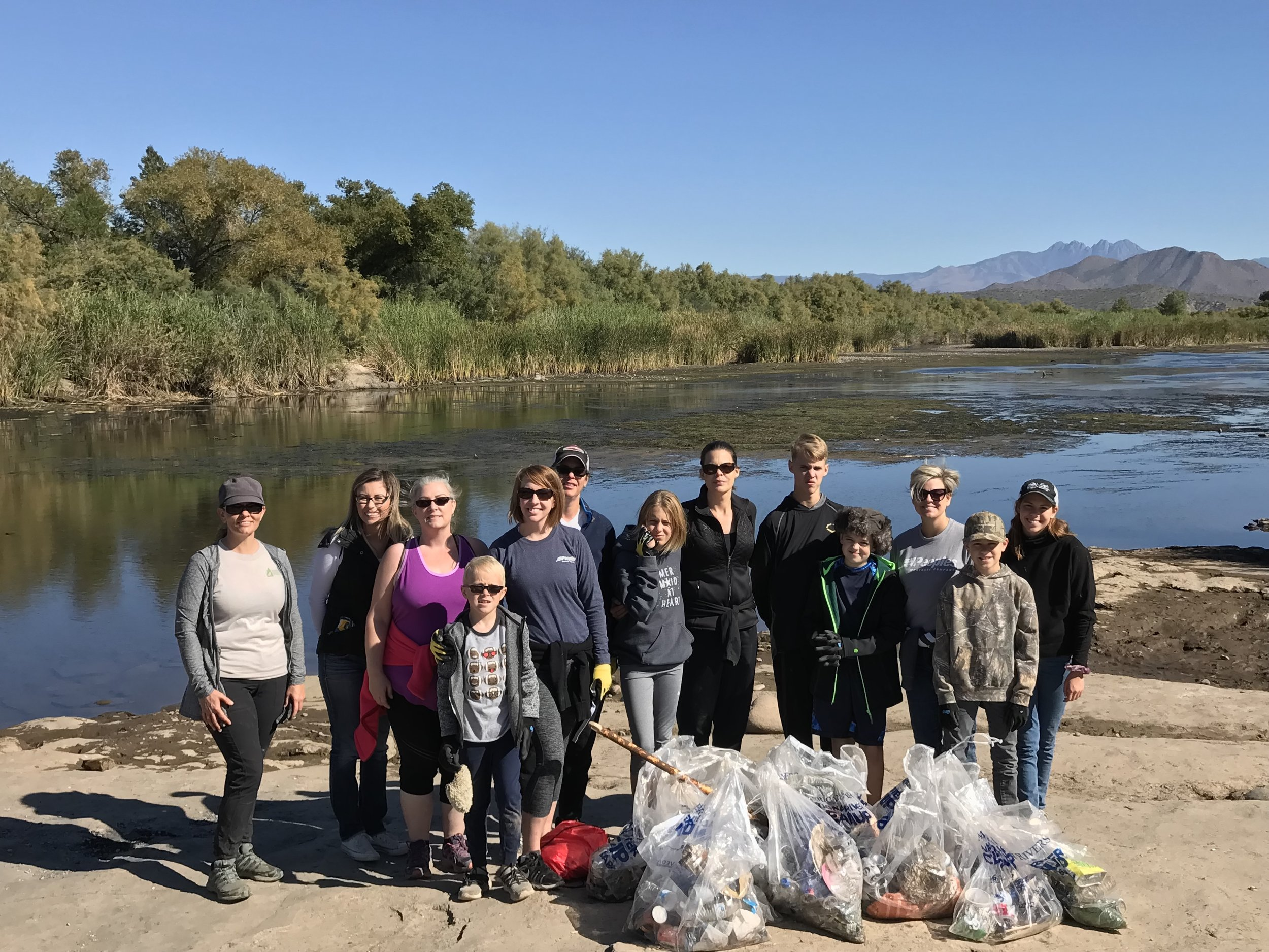 11/12/18 - Lower Salt River Cleanup at Phon D Sutton with Peoples Mortgage Company.Click HERE to view the project.
