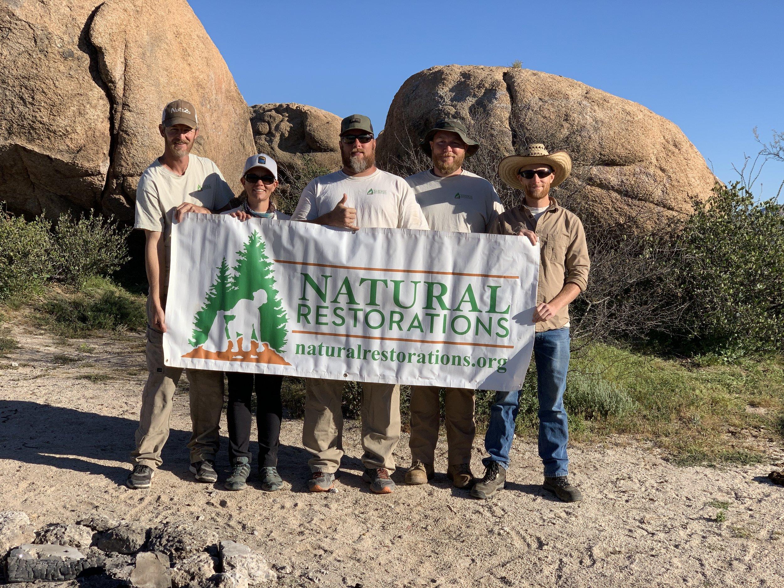 Natural Restorations Dedicated Restoration Team - March 2019