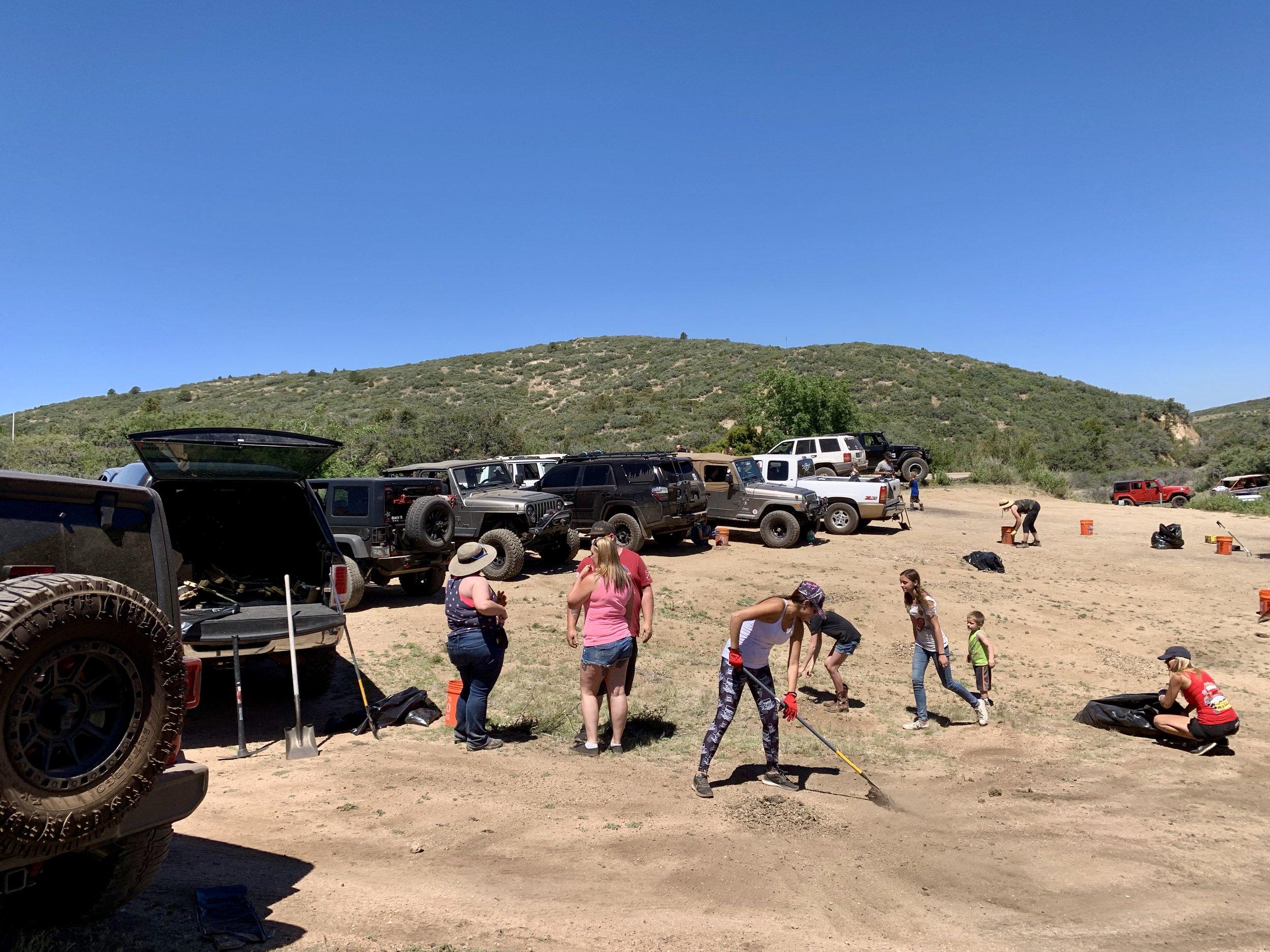 06/08/19 Doce Pit OHV Area Volunteer Cleanup
